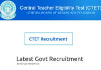 ctet exam recruitment