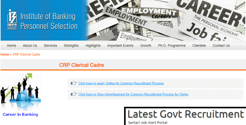 IBPS Clerk 2019 Recruitment Application